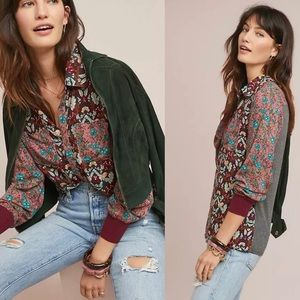 Tiny Olsen Floral Button Front Printed Top